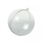 Заготовка шар разъемный, прозрачный пластик, 10 см, HEMLINE (Австралия)