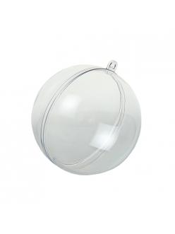 Заготовка шар новогодний, прозрачный пластик, 10 см