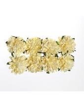 Цветы для скрапбукинга Астры бумажные кремовые, 8 шт, ScrapBerry's