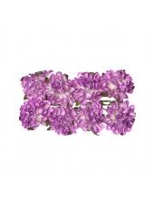 Цветы для скрапбукинга Астры бумажные сиреневые, 8 штук, ScrapBerry's