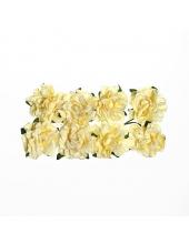 Цветы для скрапбукинга Гвоздики бумажные кремовые, 8 штук, ScrapBerry's