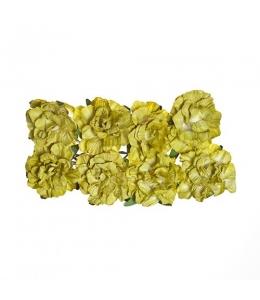 Цветы для скрапбукинга Гвоздики бумажные салатовые, 8 штук, ScrapBerry's