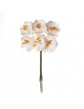 Цветы для скрапбукинга Вишня кудрявая белая, ScrapBerry's