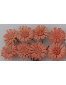 Цветы для скрапбукинга Маргаритки шебби розовые 8 шт., ScrapBerry's