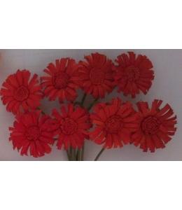 Цветы для скрапбукинга Маргаритки алые 8 шт., ScrapBerry's