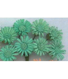 Цветы для скрапбукинга Маргаритки бирюзовые 8 шт., ScrapBerry's