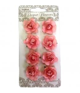 Цветы для скрапбукинга Розочки персиковые 8 шт., ScrapBerry's
