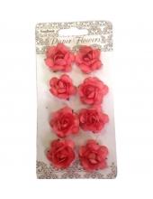 Цветы для скрапбукинга Розочки каралловые 8 шт., ScrapBerry's