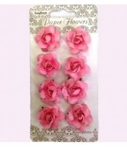 Цветы для скрапбукинга Розочки нежно-розовые 8 шт., ScrapBerry's
