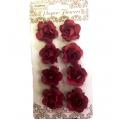 Цветы для скрапбукинга Розочки бордовые 8 шт., ScrapBerry's