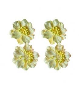 Цветы из шелковичной бумаги Гардении кремовые, 4 шт, 5см, ScrapBerry's