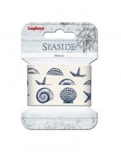 """Декоративная лента с рисунком """"Море"""", хлопок, 20 мм, 2м, ScrapBerry's"""