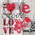 "Салфетка для декупажа ""I love you"", 33х33 см, Германия"