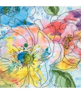 """Салфетка для декупажа """"Акварель цветов"""", 33х33 см, Германия"""