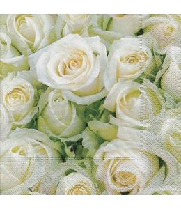 """Салфетка для декупажа """"Белые розы"""", 33х33 см, Германия"""