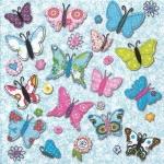 """Салфетка для декупажа """"Цветные бабочки"""", 33х33 см, Германия"""