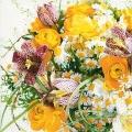 """Салфетка для декупажа """"Букет весенних цветов"""", 33х33 см, Германия"""