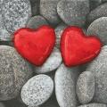 "Салфетка для декупажа ""Два сердца"", 33х33 см, Германия"