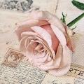 """Салфетка для декупажа """"Открытка с розой"""", 33х33 см, Германия"""