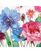 """Салфетка для декупажа """"Акварельные цветы"""", 25х25 см, Германия"""