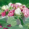 "Салфетка для декупажа ""Натюрморт с розами"", 33х33 см, Германия"
