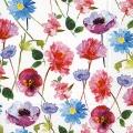 """Салфетка для декупажа """"Акварельные цветы"""", 33х33 см, Германия"""