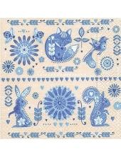 """Салфетка для декупажа """"Голубой дизайн"""", 33х33 см, Германия"""