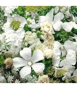 """Салфетка для декупажа """"Белое цветение"""", 33х33 см, Германия"""