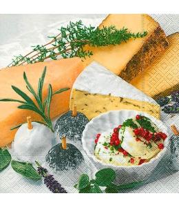 """Салфетка для декупажа """"Сыр и пряные травы"""", 33х33 см, Германия"""
