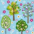 """Салфетка для декупажа """"Цветущие деревья"""", 33х33 см, Германия"""