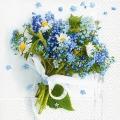 "Салфетка для декупажа ""Голубой букет"", 33х33 см, Германия"