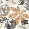 """Салфетка для декупажа """"Листья и грибы"""", 33х33 см, Германия"""