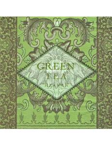 """Салфетка для декупажа """"Зеленый чай"""", 33х33 см, Германия"""