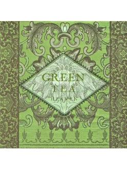 Салфетка для декупажа Зеленый чай, 33х33 см