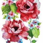 """Салфетка для декупажа SDC847000 """"Розы, акварель"""", 25х25 см, Германия"""