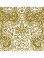 """Салфетка для декупажа """"Сказочный орнамент, золото"""", 33х33 см, Польша"""