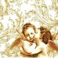 """Салфетка для декупажа """"Ангелы ренессанс золото"""", 33х33 см, Польша"""