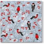 """Салфетка для декупажа """"Зимние птицы"""", 33х33 см, Paw (Польша)"""