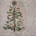 """Салфетка для декупажа """"Рождественская ель с кристаллами"""", 33х33 см, Paw (Польша)"""