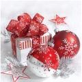 "Салфетка для декупажа ""Красно-белые шары"", 33х33 см, Paw (Польша)"