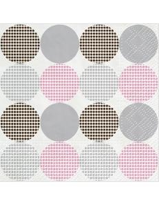 """Салфетка для декупажа """"Точки розовые"""", 33х33 см, Польша"""