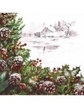 """Салфетка для декупажа """"Рождественская композиция"""", 33х33 см, Paw (Польша)"""