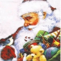 "Салфетка для декупажа ""Санта и синичка"", 33х33 см, Paw (Польша)"