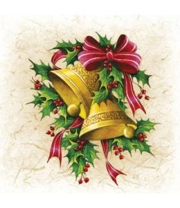 """Салфетка для декупажа """"Рождественские колокольчики"""", 33х33 см, Paw"""