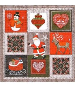 """Салфетка для декупажа """"Рождественские картинки"""", 33х33 см, Paw (Польша)"""
