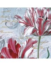 """Салфетка для декупажа """"Величественные тюльпаны"""", 33х33 см, Польша"""