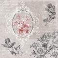 """Салфетка для декупажа SDL089400 """"Ангелы среди цветов"""", 33х33 см, Германия"""