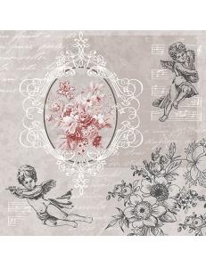"""Салфетка для декупажа """"Ангелы среди цветов"""", 33х33 см, Германия"""