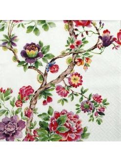 Салфетка для декупажа Японский сад, 33х33 см, Польша