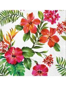 """Салфетка для декупажа """"Гавайские цветы"""", 33х33 см, Германия"""